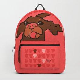 Ellie Mellie coral/brown Backpack