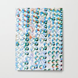 Glass stain mosaic 10 - bubbles, by Brian Vegas Metal Print