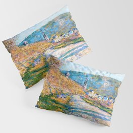 Claude Monet - The Road to Vetheuil - Digital Remastered Edition Pillow Sham