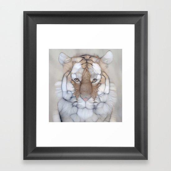 tiger wild Framed Art Print