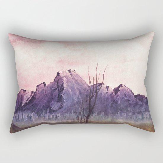Over The Mountains II Rectangular Pillow