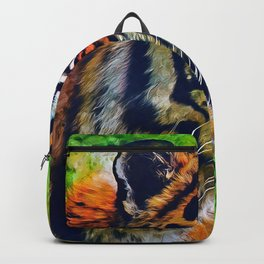 Tiger Painting Backpack