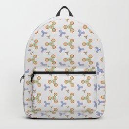 Fidget Spinner Seamless Pattern Backpack