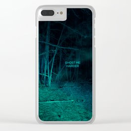 Ghost Me Harder Clear iPhone Case