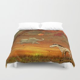 Animals in the Forest Duvet Cover