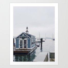 Boston Boathouse Art Print