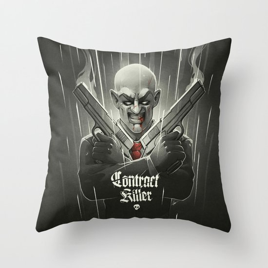 Contract Killer Throw Pillow