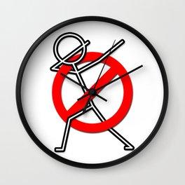 STOP DABBING NO MORE DABBING ANTI-DABBING Funny Design Dab Wall Clock