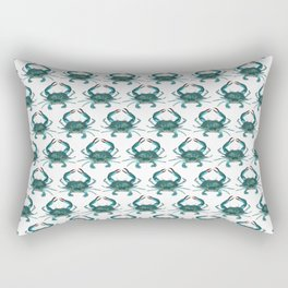 Pattern: Blue Crab Fest! ~ (Art Copyright 2013) Rectangular Pillow