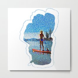 Sunset SUP Metal Print