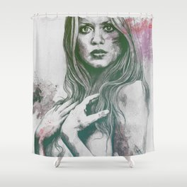 Gloria: Purple Shower Curtain