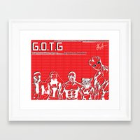 guardians of the galaxy Framed Art Prints featuring Guardians of the Galaxy by The Renegade