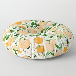Spring Clementines Floor Pillow