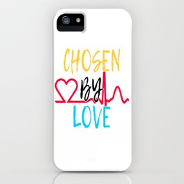 "Great Tee typography design saying ""Chosen"" and showing your the chosen one! You are CHOSEN BY LOVE iPhone Case"