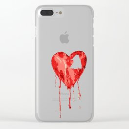 B/ood Heart Clear iPhone Case