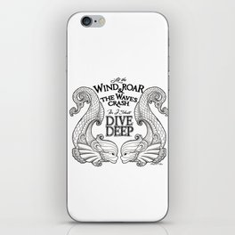 Dive Deep - Black and White iPhone Skin