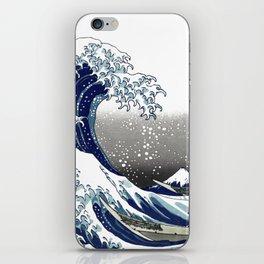 Vintage Great Waves at Kanagawa by Hokusai iPhone Skin
