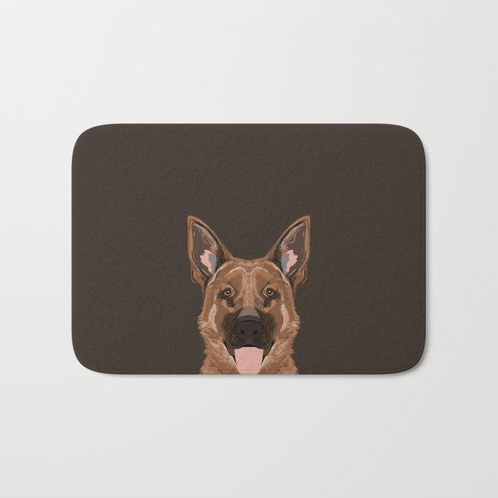 Skylar - German Shepherd gifts for dog people dog lover gifts german shepherd owners perfect gifts  Bath Mat