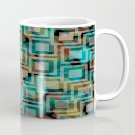 Black and White Squares Pattern 07 Coffee Mug