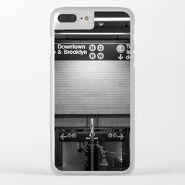 Downtown New York City Subway Clear iPhone Case