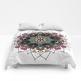 female mandala Comforters