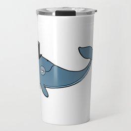 Whale Wearing Top Hat Travel Mug