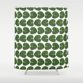 Cyclamen leaf pattern Shower Curtain