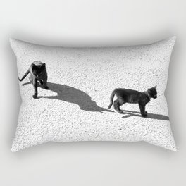 Cute cats shadows Rectangular Pillow