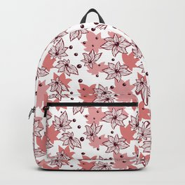 Abstract Marine Flowers and Beads Backpack