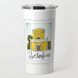 portofino postcard Travel Mug