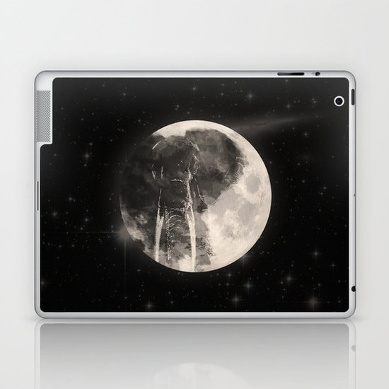 The Elephant in The Moon Laptop & iPad Skin