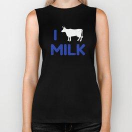 I heart Milk Biker Tank