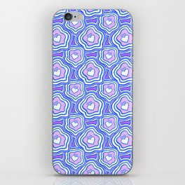 'I Love You Umlaut' Valentine's Pattern - Purple Dream iPhone Skin