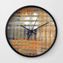 Street Plaid Wall Clock
