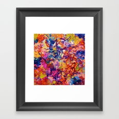 EVERYBODY'S COASTER- Bold Abstract Acrylic Painting Wine Glass Coaster Wow Autumn Home Decor Gift  Framed Art Print