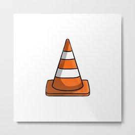 Cone Illustration Metal Print
