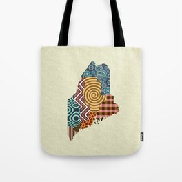 Maine State Map Tote Bag