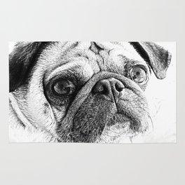 Cute Pug Art By Annie Zeno Rug