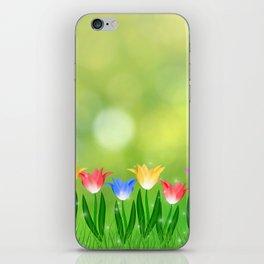 Floral happy spring iPhone Skin