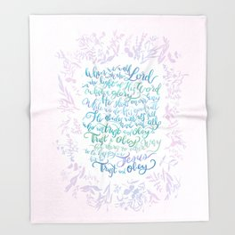 Trust and Obey - Hymn Throw Blanket