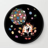 saga Wall Clocks featuring the neverending saga by kemiemo