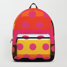 Earth and Summer Sky - Color Strips with Pink Dots Backpack