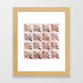 Scratchs and colors Framed Art Print
