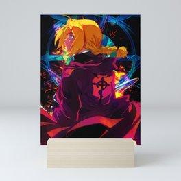 Neon Transmutation Circle Mini Art Print