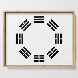 Black Hexagon I ching Feng Philosophy Serving Tray