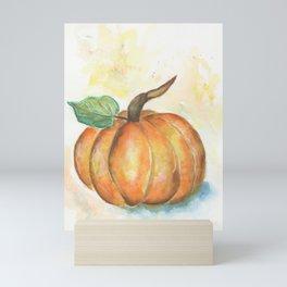Pumpkin watercolor Mini Art Print