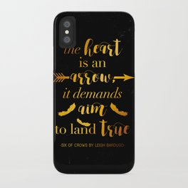 The Heart Is An Arrow - Six of Crows Leigh Bardugo (B) iPhone Case
