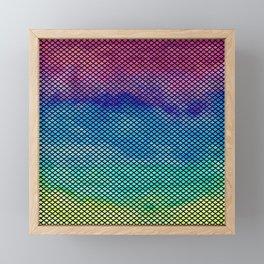 Rainbow Mermaid Tail Framed Mini Art Print