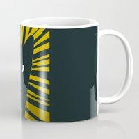 evil Mugs featuring Evil Cat by Antonio Ortega