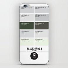 PANTONE glossary - Iceland - Hvalfjörður iPhone & iPod Skin